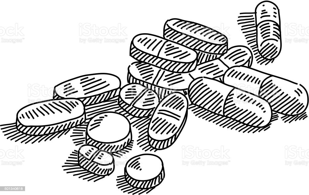 Pills drawing stock vector art more images of 2015 for How to draw a pill