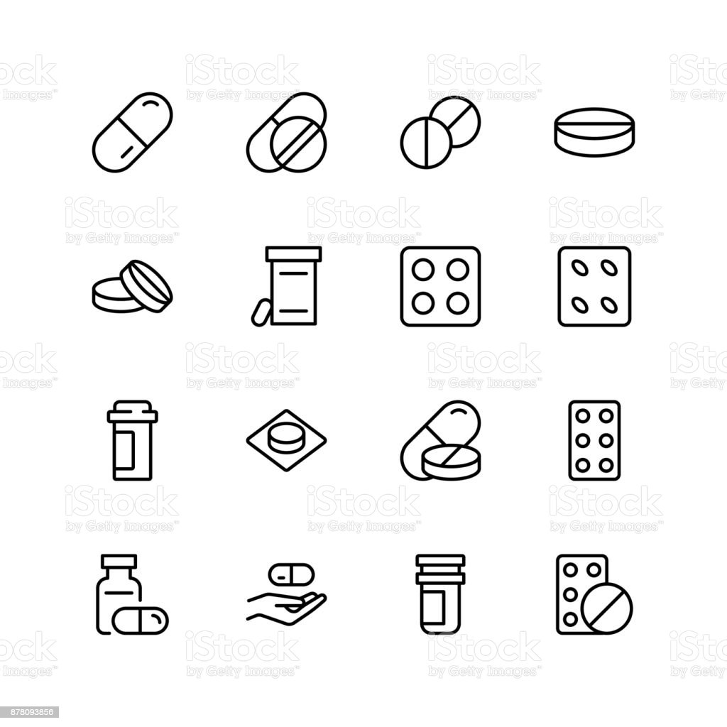 Pills flat icon - arte vettoriale royalty-free di Accudire
