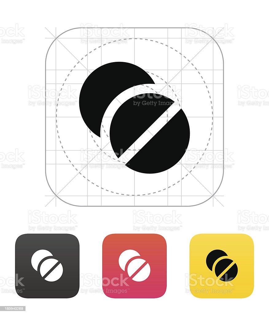 Pills icon. Vector illustration. royalty-free stock vector art