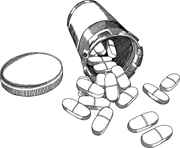Royalty free spilled pills clip art vector images for How to draw a pill