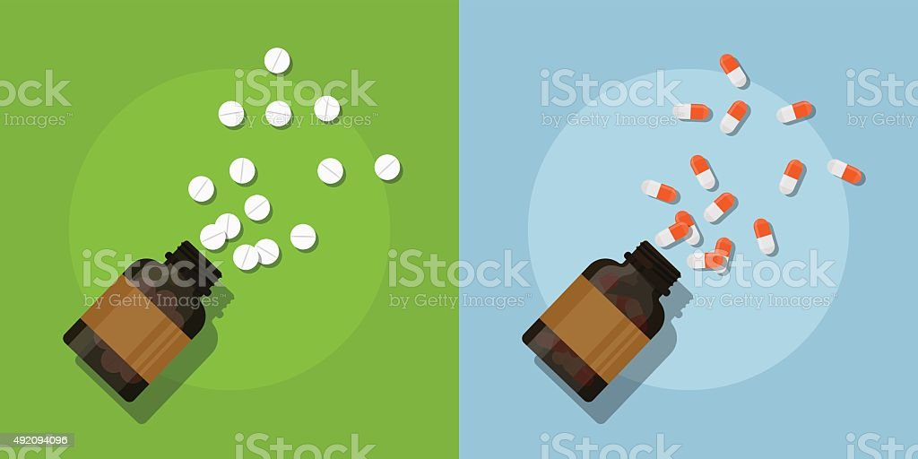 pills vector art illustration