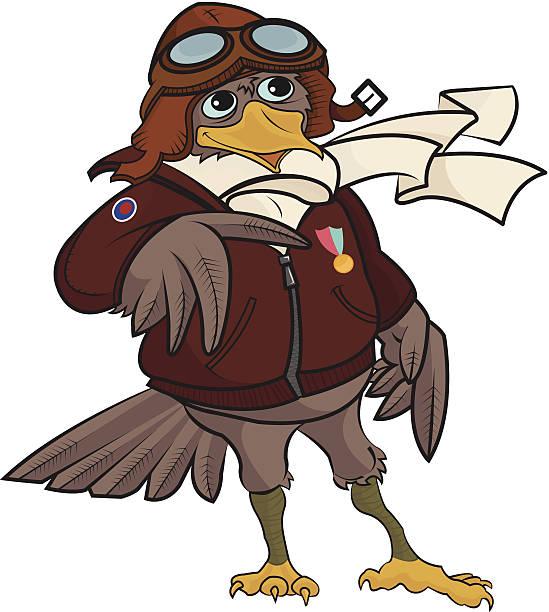 militärtaschen pilot bird - extravagant schutzbrille stock-grafiken, -clipart, -cartoons und -symbole