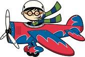 Pilot Boy Flying Plane
