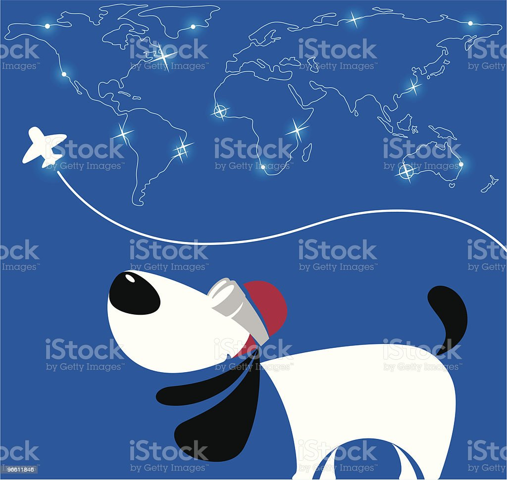 pilot dog - Royalty-free Airplane stock vector