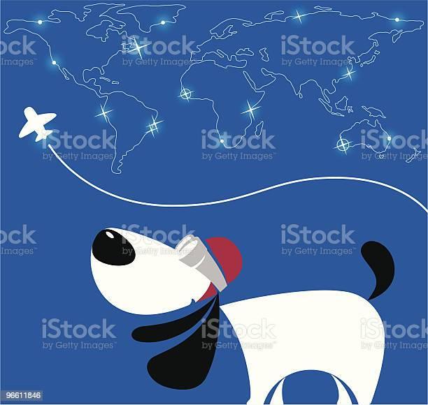 Pilot Dog-vektorgrafik och fler bilder på Digitalt genererad bild