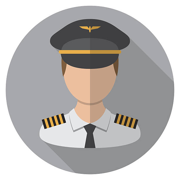 Pilot Icon vector art illustration