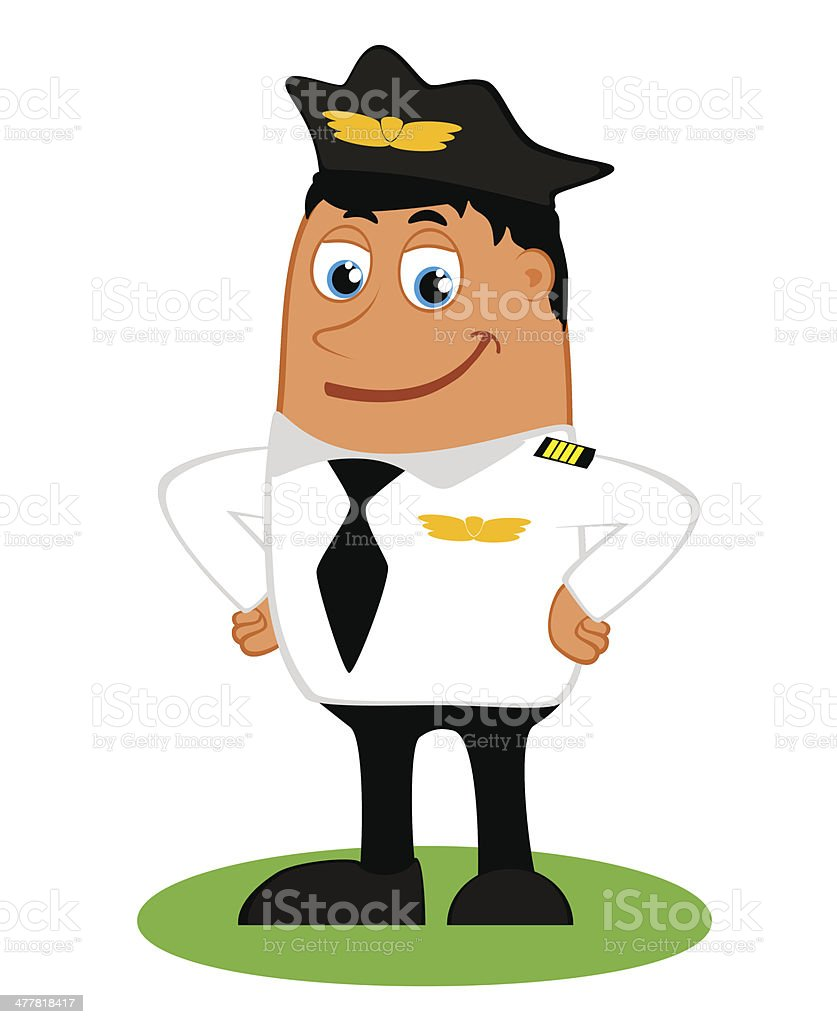 Pilot on a white background royalty-free stock vector art