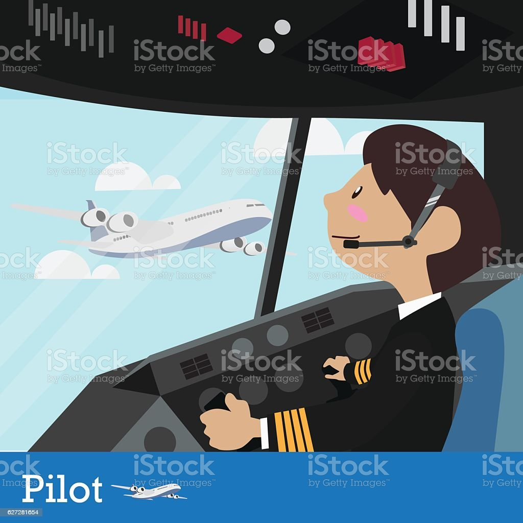 Pilot vector illustration design vector art illustration