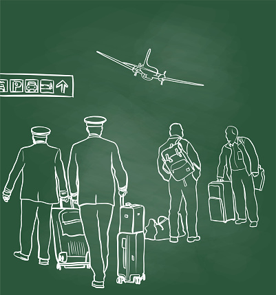 Pilots At The Gate Chalkboard