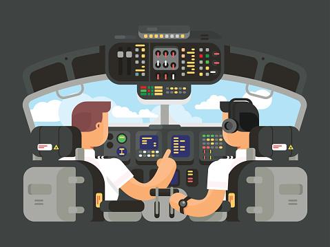 Pilot stock illustrations