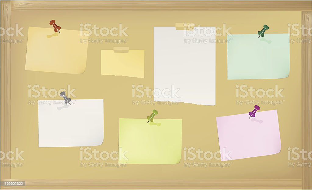 Pin board royalty-free stock vector art