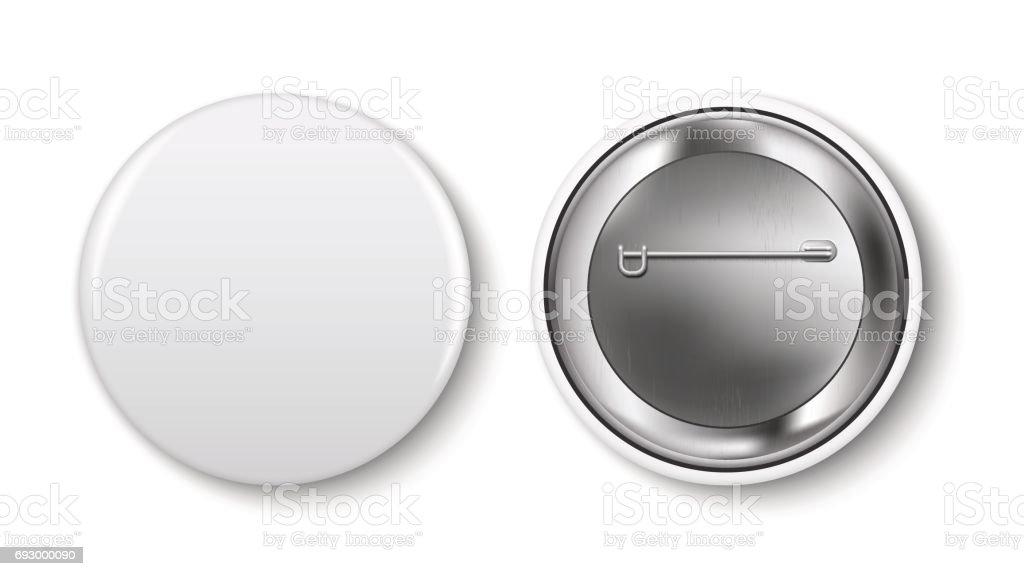 pin button vector art illustration