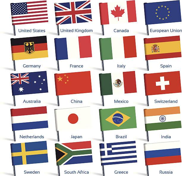 ピンの旗 - メキシコの国旗点のイラスト素材/クリップアート素材/マンガ素材/アイコン素材