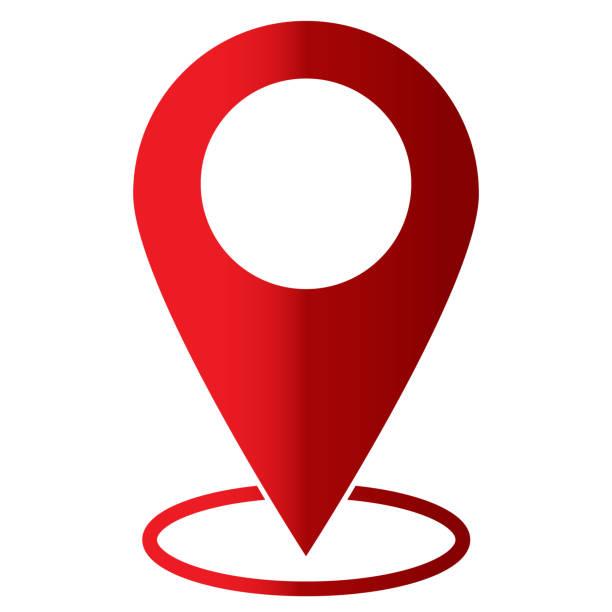pin simgesi beyaz arka plan üzerinde. düz stil. işaret göster. web sitesi tasarımı, logo, app, kullanıcı arabirimi için konum. harita işaretçi simgesi. gezinti simgesi. - google stock illustrations