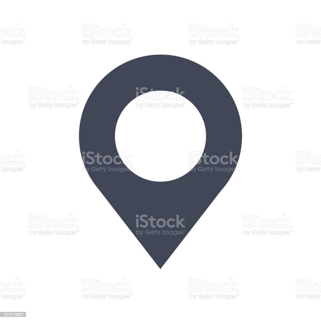 Vector icono de PIN - ilustración de arte vectorial