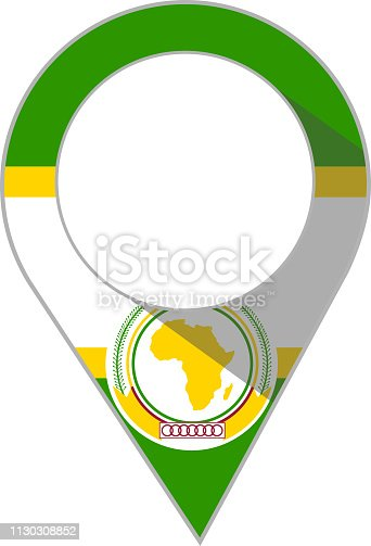 istock pin in the colour of the African Union flag 1130308852