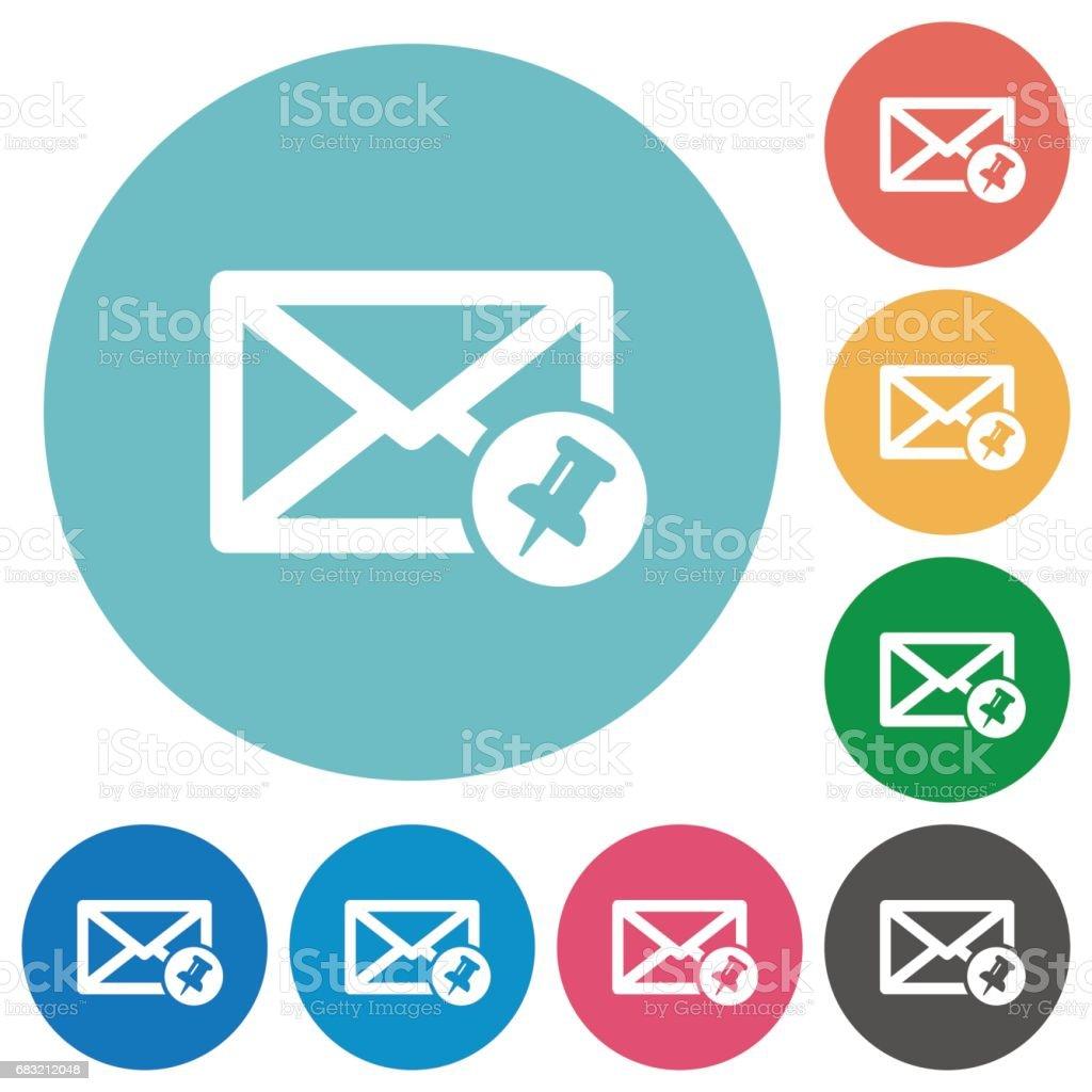 Pin mail flat round icons royalty-free pin mail flat round icons sport set에 대한 스톡 벡터 아트 및 기타 이미지