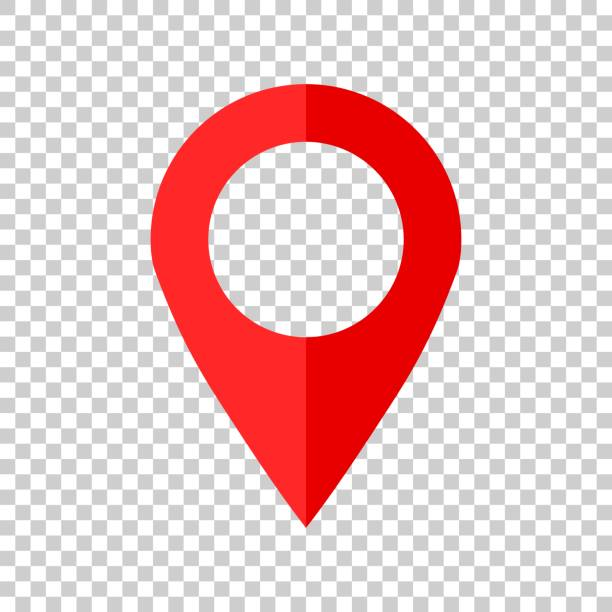 Pin map icon in flat style. Gps navigation vector illustration on isolated background. Target destination business concept. Pin map icon in flat style. Gps navigation vector illustration on isolated background. Target destination business concept. pointing stock illustrations