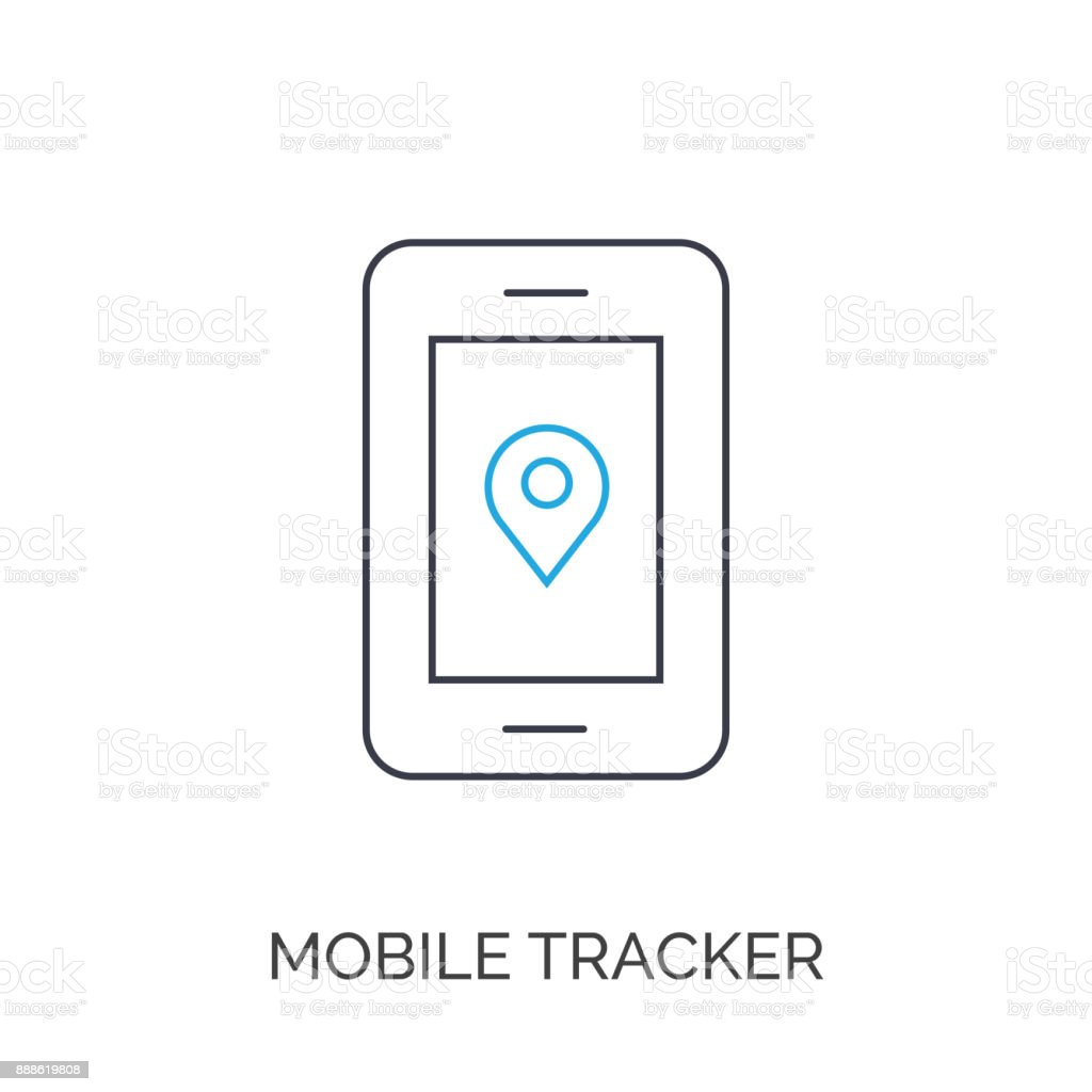 GPS pin on mobile phone screen vector art illustration