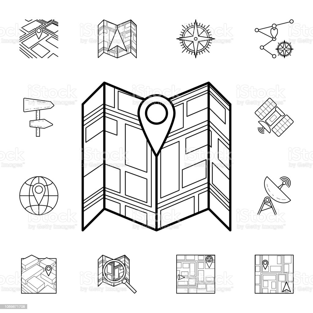 Pin On The Expanded Map Icon Detailed Set Of Navigation Icons Premium  Graphic Design One Of The Collection Icons For Websites Web Design Mobile  App ...
