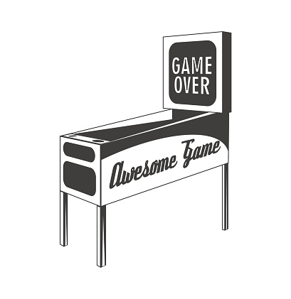 Pinball. Isolated Object. Vector Illustration