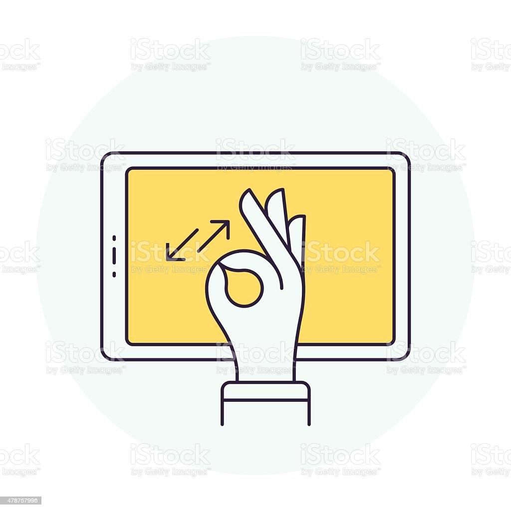 Pinch Gesture Symbol vector art illustration
