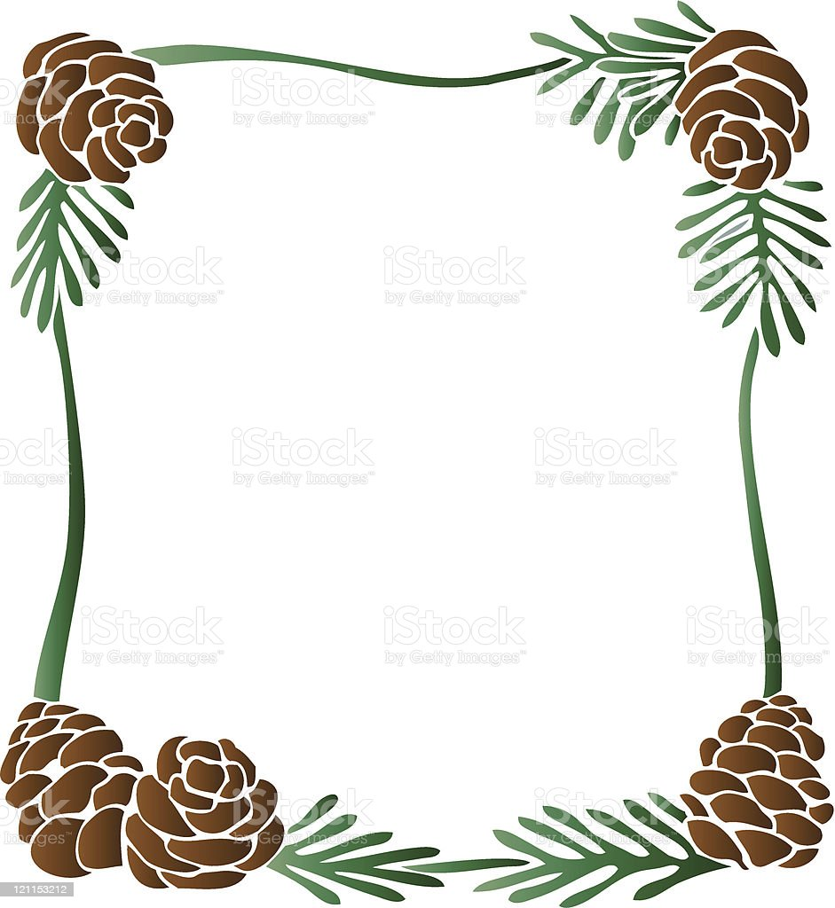 Pine Cones Border royalty-free stock vector art