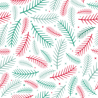 Pine Seamless Holiday Background