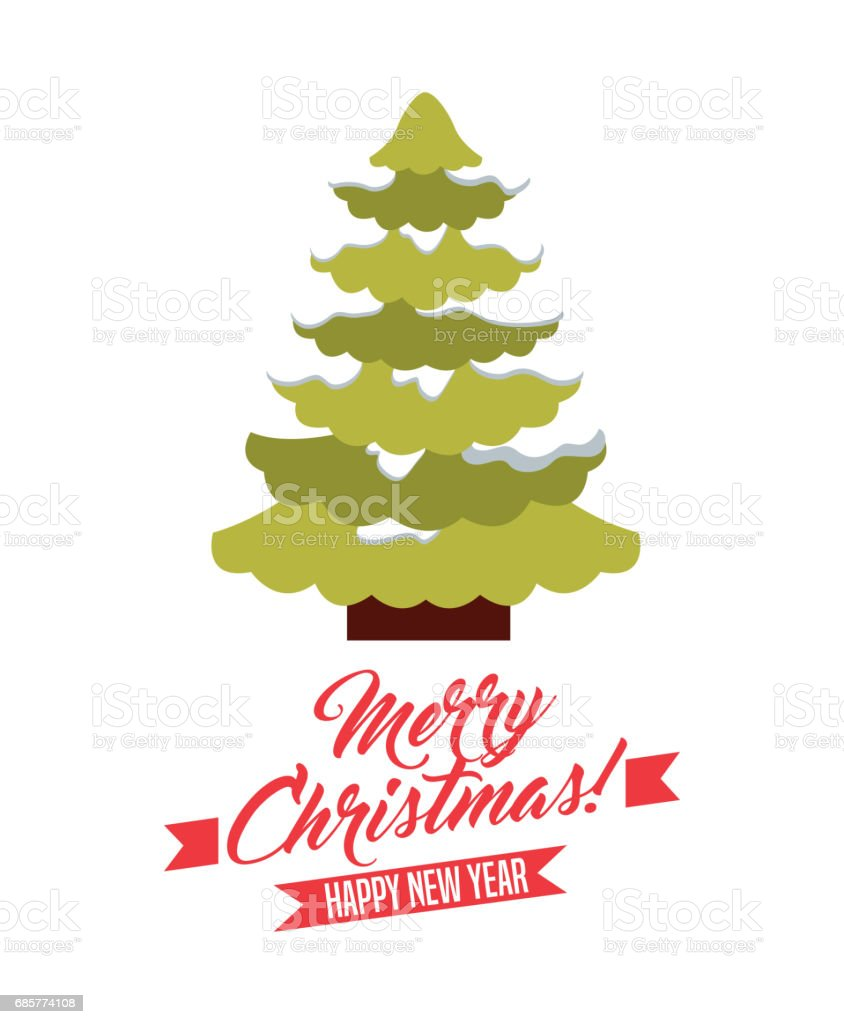 Pine tree and snow icon. Merry Christmas design. Vector graphic 免版稅 pine tree and snow icon merry christmas design vector graphic 向量插圖及更多 pinaceae 圖片