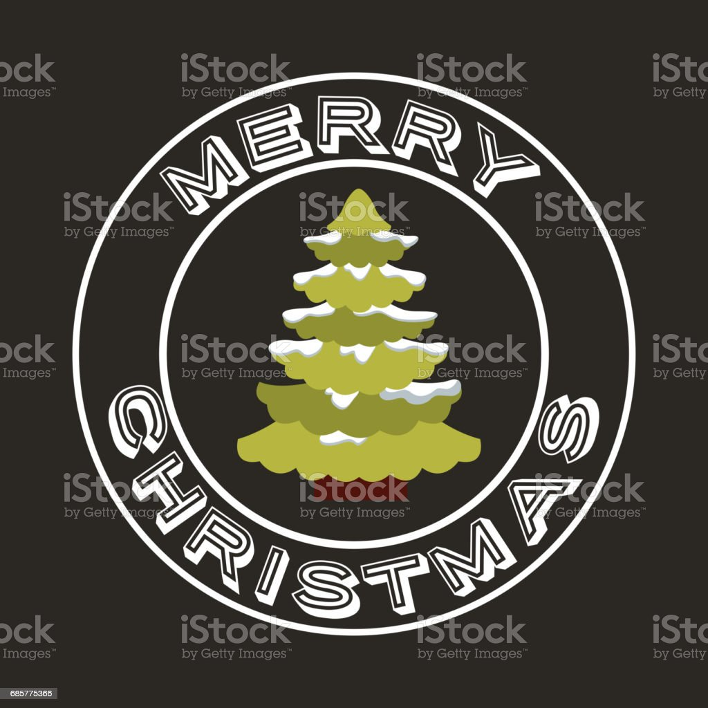 Pine tree and snow icon. Merry Christmas design. Vector graphic royalty-free pine tree and snow icon merry christmas design vector graphic stock vector art & more images of arts culture and entertainment