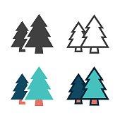 Pine Tree Icon Vector EPS File.