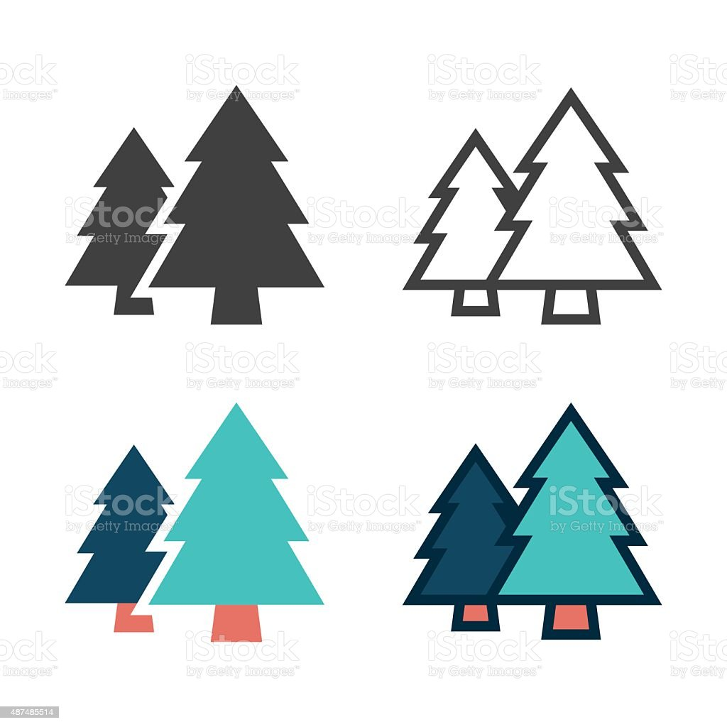 Pine Tree Icon vector art illustration