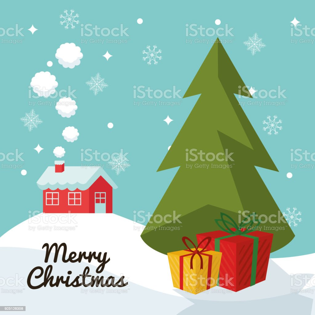Pine tree of Christmas season design vector art illustration