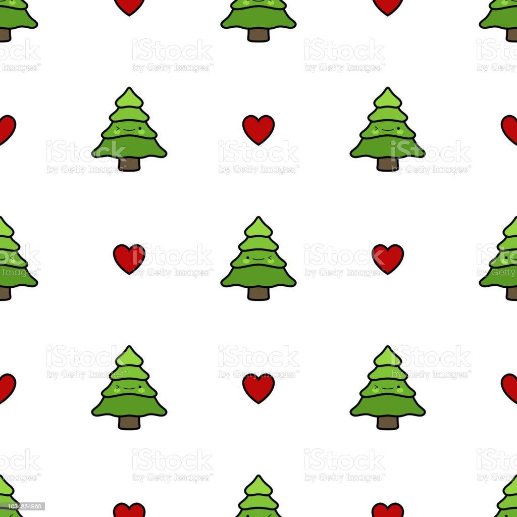Ilustración de Patrón De árbol De Pino Fondo De Navidad y más banco ...