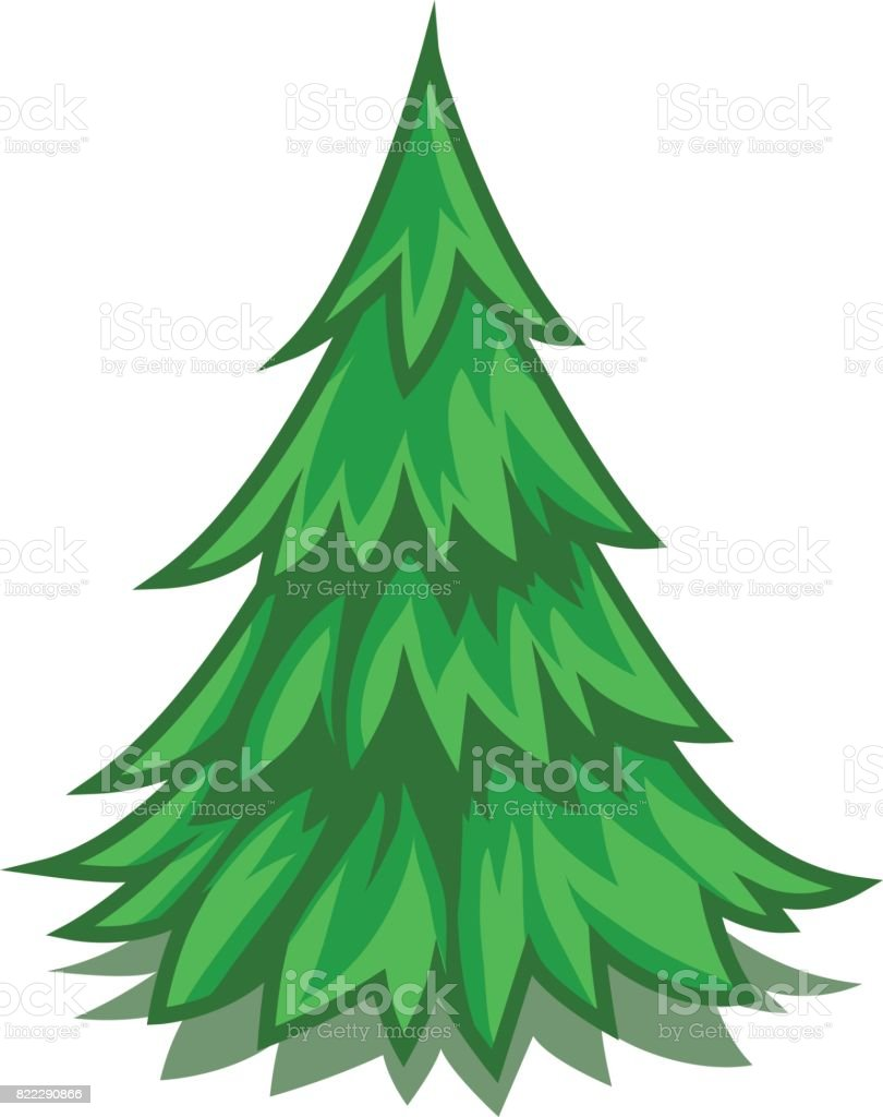 Pine Tree Symbol Cartoon Stock Vector Art 822290866 Istock