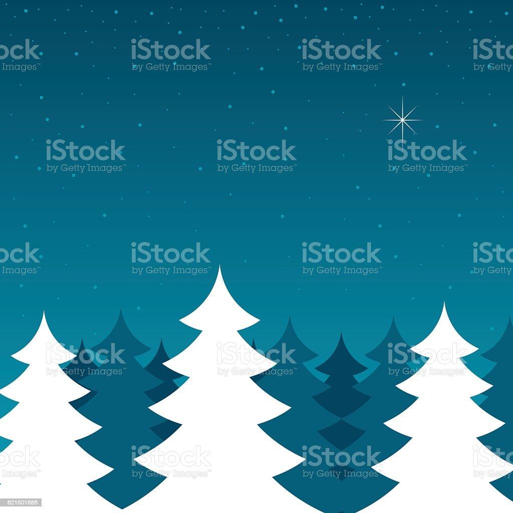 Pine Trees During Winter Lizenzfreies pine trees during winter stock vektor art und mehr bilder von baum