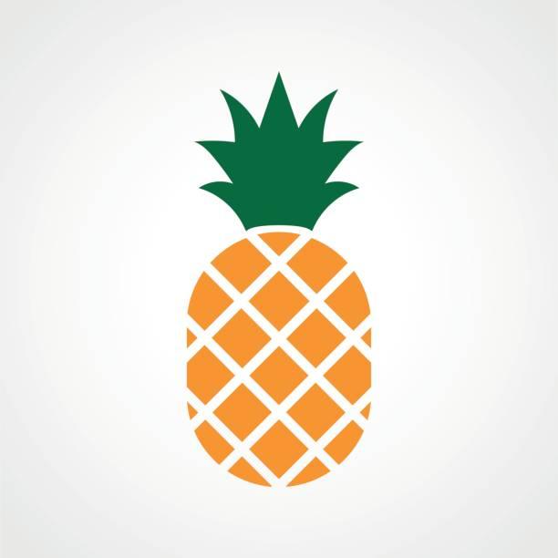 illustrazioni stock, clip art, cartoni animati e icone di tendenza di pineapple ananas icon - ananas