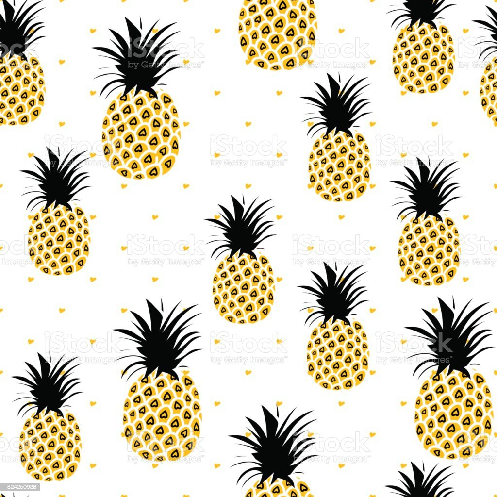 Pineapple Background Cute Pineapples Seamless Pattern Summer ... for Cute Pineapple Wallpaper  55dqh