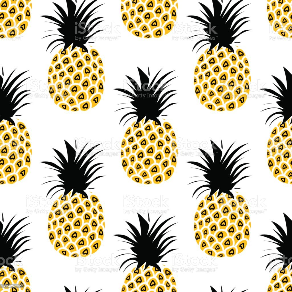 Pineapple Background Cute Pineapples Seamless Pattern Summer ... for Cute Pineapple Wallpaper  166kxo
