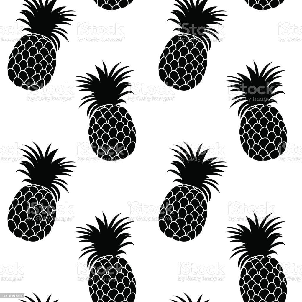 Ananashintergrund Süße Ananas Musterdesign Auf Druck Der Ganzen ...