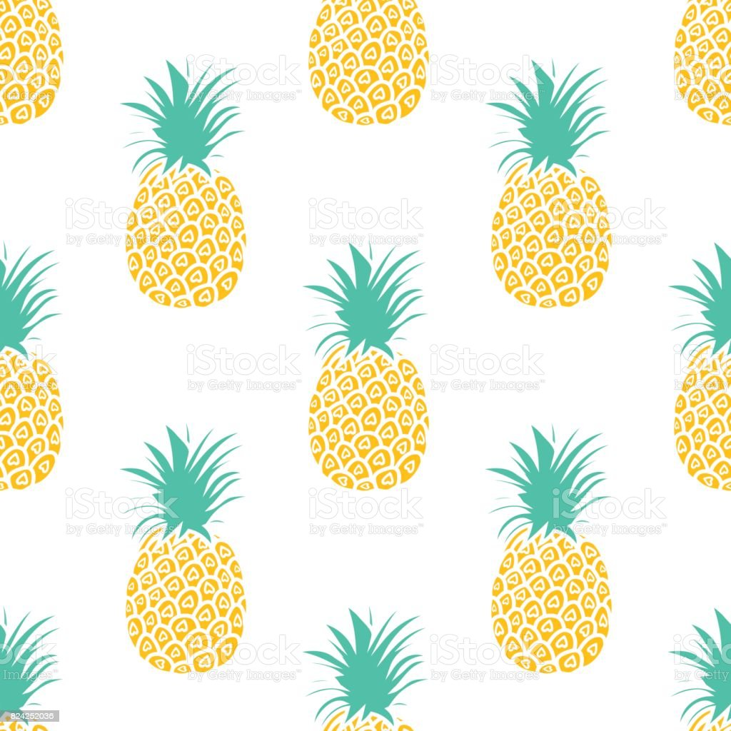 Cute Backgrounds: Pineapple Background Cute Pineapples Seamless Pattern