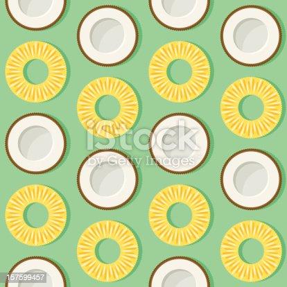 istock Pineapple Coconut Seamless Pattern 157599457