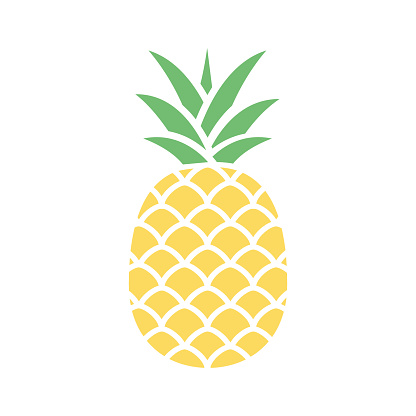 Pineapple colorful icon