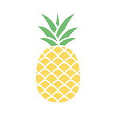 istock Pineapple colorful icon 1217848093