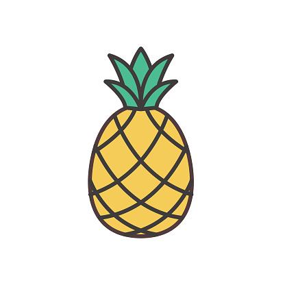 Pineapple Cute Fruit Icon