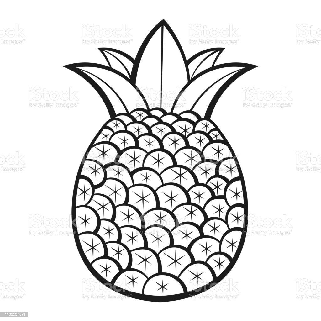 Ananas Desen Ile Egzotik Meyveler Vektor Yetiskinler Ve Cocuklar
