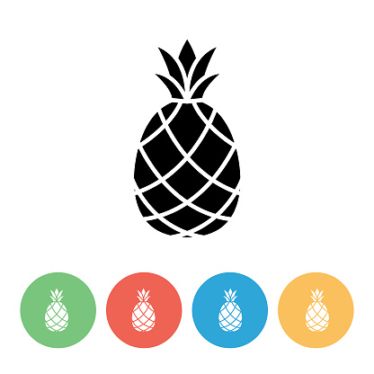Pineapple Flat Design Fruit Icon