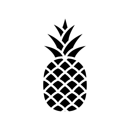 pineapple - fruit icon vector design template