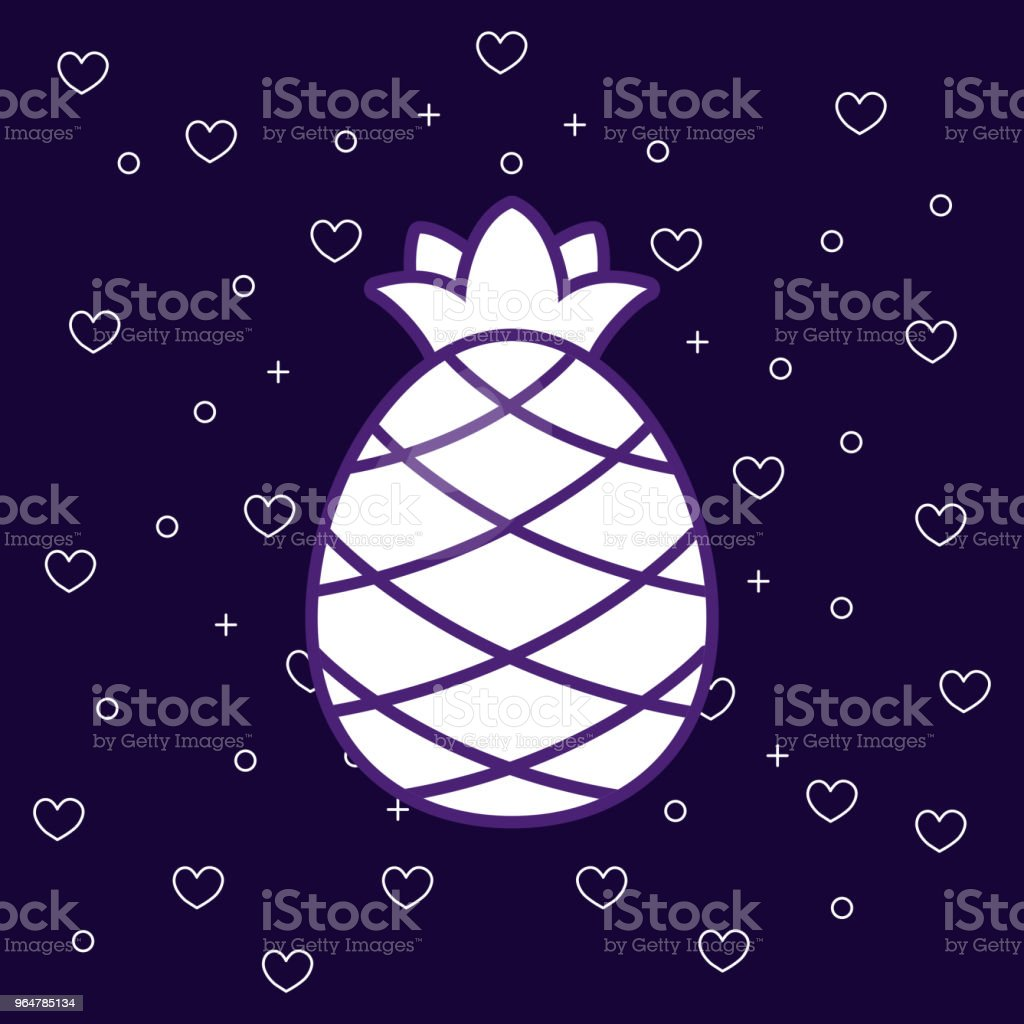pineapple fruit icon royalty-free pineapple fruit icon stock vector art & more images of agriculture