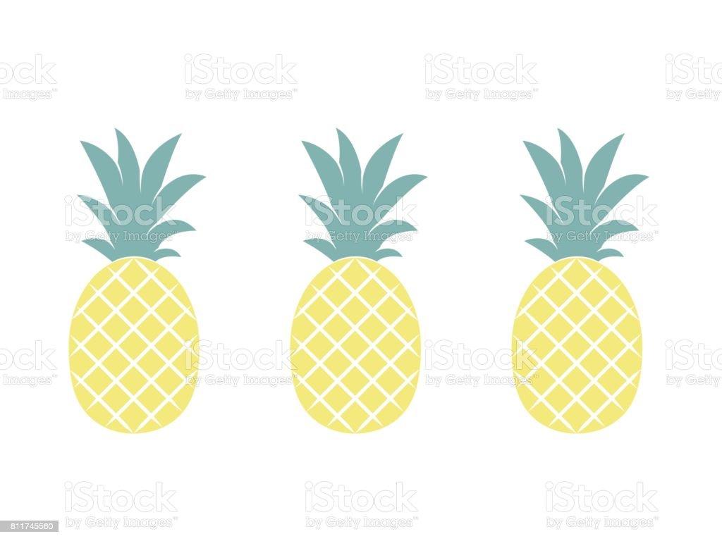 Ananas-Frucht. Vektor-Illustration. – Vektorgrafik